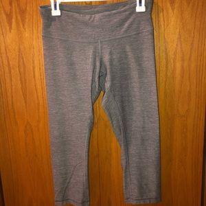 Cropped light gray Lululemon leggings